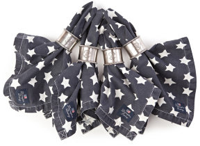 "Denim Serviette ""Lexington Living Stars"""