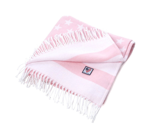 "Baby Baumwollplaid ""Flag"" Light Pink"