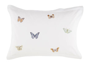 "Luxury Nights Satinbettwäsche mit lieblicher Stickerei ""Fischbacher Butterfly"""