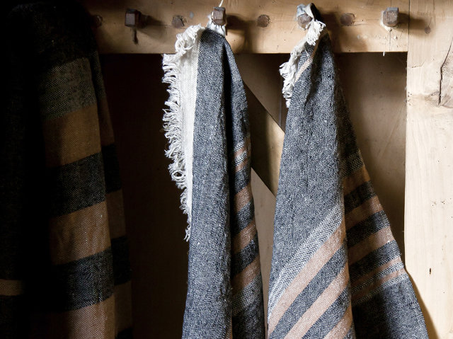 "Libeco Leinentuch ""The Belgian Towel Black"""
