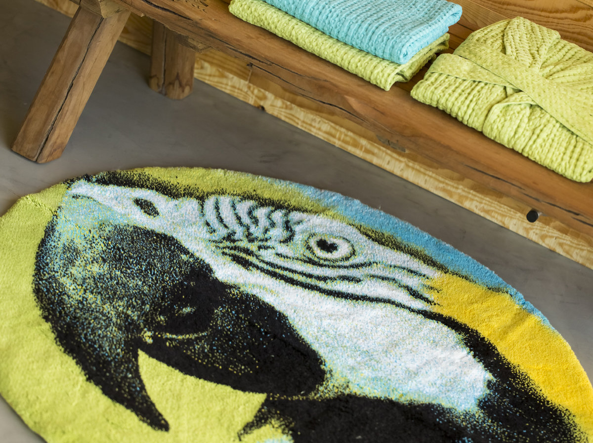 badeteppich habidecor papagei g m 100 cm von abyss habidecor. Black Bedroom Furniture Sets. Home Design Ideas