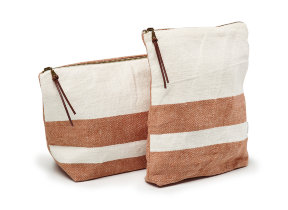 "Libeco Leinen-​Kosmetiktasche ""The Louisiana Stripe"""