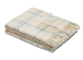 "Lambswool-​Babyplaid ""Dolcezza white"", Lanerossi"