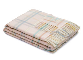 "Lambswool-​Babyplaid ""Dolcezza Pink"", Lanerossi"