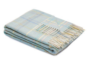 "Lambswool-​Babyplaid ""Dolcezza Light Blue"", Lanerossi"