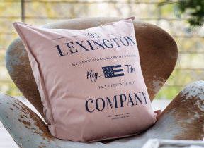 "Printkissenbezug ""Lexington Classic Graphic Rosé"""