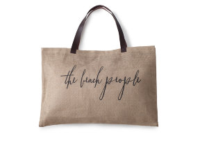 "Jute Tasche  mit Lederdetails ""The Beach People Original"""