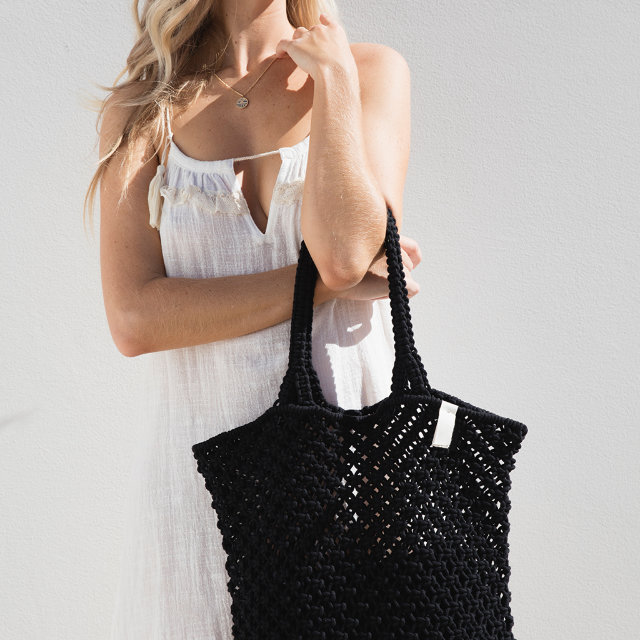 "The Beach People ""Macrame Tote Bag"", Mood"