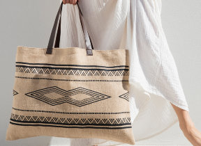 "Jute Tasche ""The Beach People Kilim"""