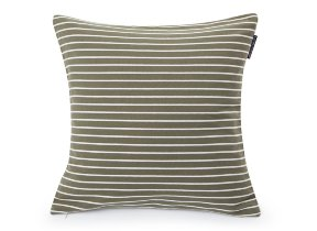 "Twillkissenbezug ""Lexington Striped Sham Green White"", 50 x 50 cm - © bsmart ab"