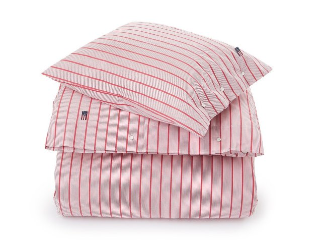 Lexington Red Striped Poplin Bettwäsche