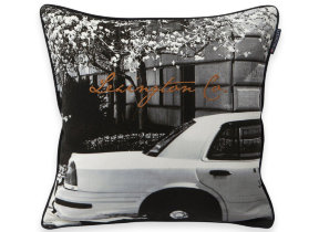 "Bedruckter Kissenbezug mit Stickdetail ""Lexington Car Sham"", 50 x 50 cm"