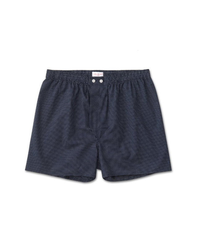 "Derek Rose Classic Fit Boxer Shorts ""Plaza 21 Navy"""