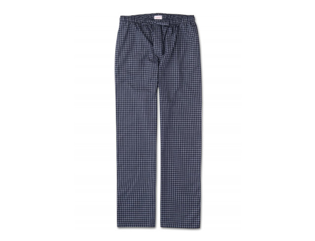 "Derek Rose Woven Lounge Trousers ""Beamer 32 Navy"""