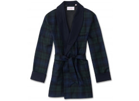 "Smoking Jackett ""Tartan Black Watch"" von Derek Rose"