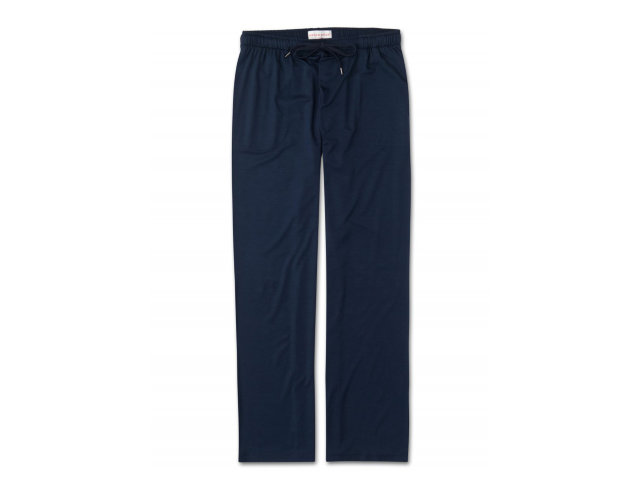 "Derek Rose Jersey Lounge Trousers ""Basel 1 Denim"""
