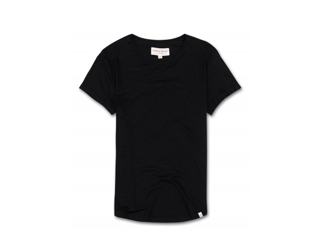 "Derek Rose Jersey Leisure Tee ""Carla 1 Black"""