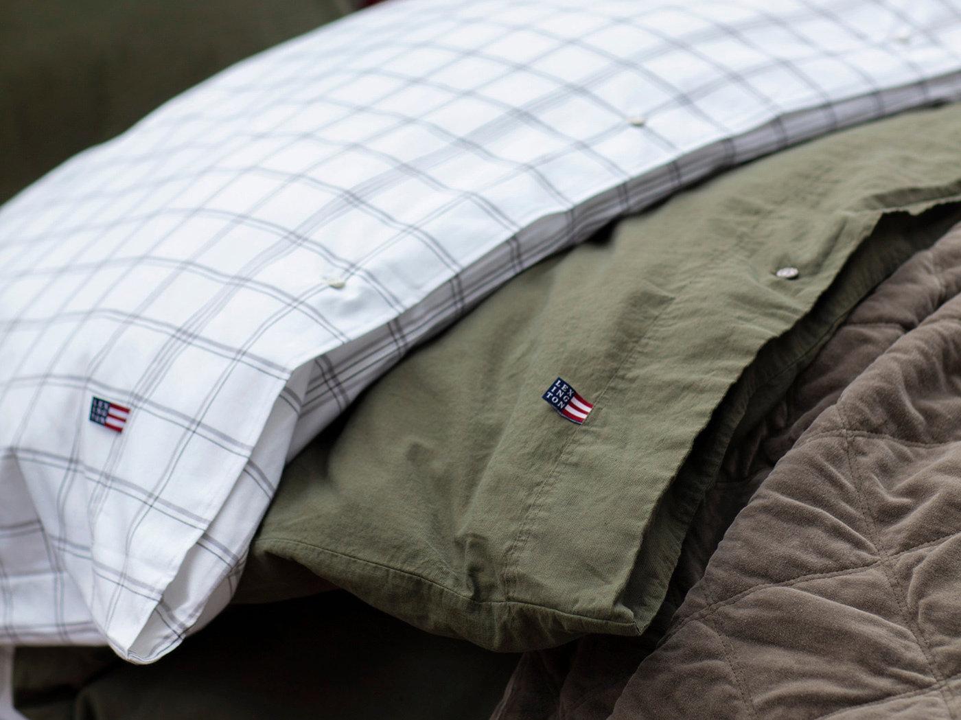 Stonewashed Baumwoll Leinen Bettwäsche Set Lexington Washed Cotton