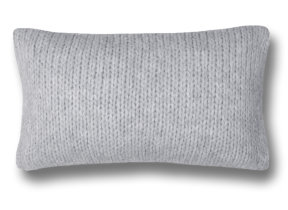 "Strick Kissenbezug Alpaka ""Zoeppritz Knitty Grey""  30 x 50 cm"