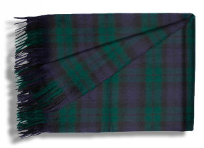 "Modernes Kaschmirplaid ""Begg & Co Arran Tartan Black Watch"", 147 x 183 cm"