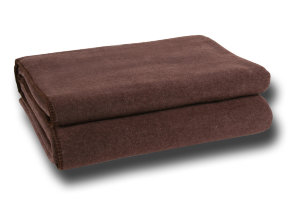 "Microfaser Kuscheldecke ""Zoeppritz Soft Fleece Dark Brown"", in 4 Größen"
