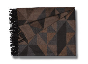"Design Lambswool Plaid mit Angora ""Begg & Co Sonia Vicuna"", 150 x 180 cm"