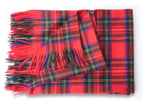 "Modernes Kaschmirplaid ""Begg & Co Arran Tartan Royal Stewart"", 147 x 183 cm"