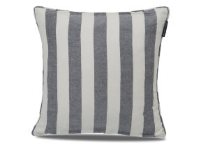 "Leinen-​Viskosekissenbezug ""Lexington Striped Sham Blue"", 50 x 50 xm"