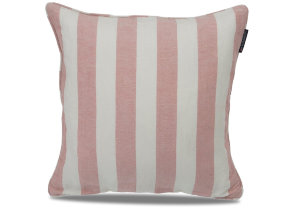 "Leinen-​Viskosekissenbezug ""Lexington Striped Sham Pink"", 50 x 50 xm"