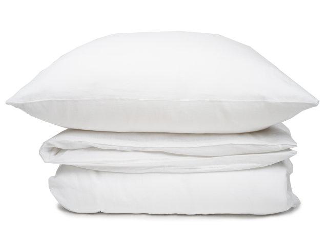 Leinenbettwäsche Mit ägyptischer Baumwolle In Frischem Weiß Von Elegante