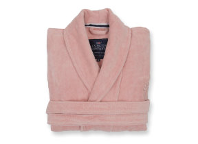 "Kuschelig weicher Velours Bademantel mit Emblem ""Hotel Collection Pink"" von Lexington"
