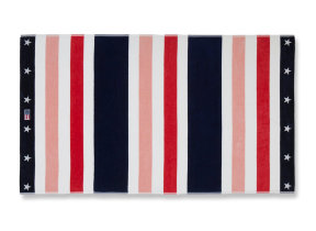 "Velours Strandtuch ""Multi Stripe Red"" von Lexington, 100 x 180 cm"