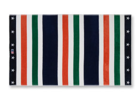 "Lässiges Velour Strandtuch ""Multi Stripe Green"", 100 x 180 cm"