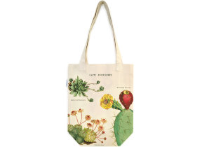 Tote Bag mit Kakteenblüte in intensiven Farben