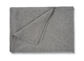 "Feines Strickplaid aus edlem Kaschmir-​Mix ""Allude Grey"", 130 x 180 cm"