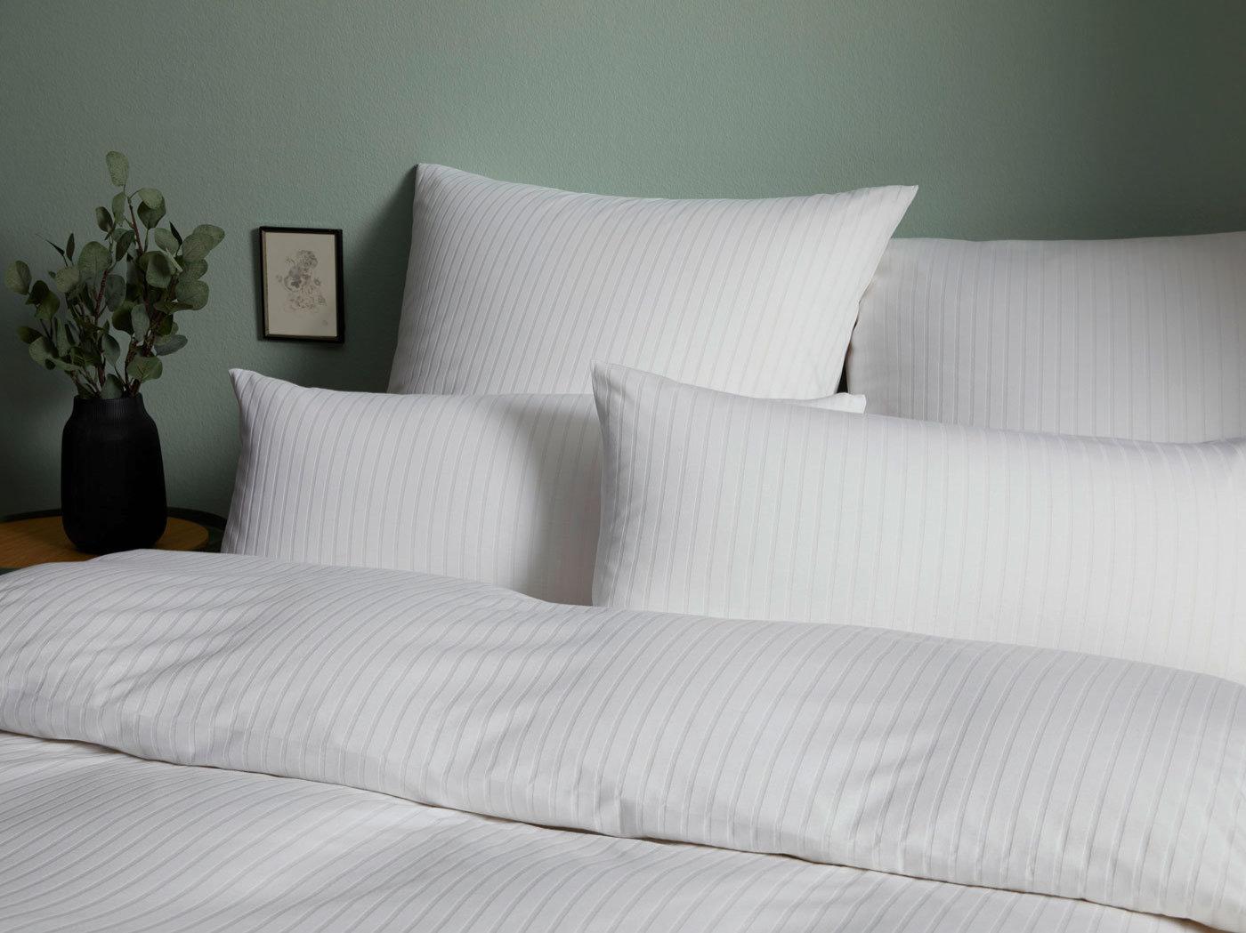 Bügelfreie Jersey Bettwäsche Mit Streifen Bedandroom