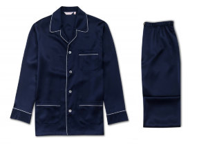 "Seiden Herrenpyjama ""Derek Rose Bailey Midnight Blue"""
