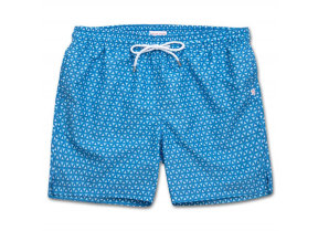 Badeshorts mit Origami Muster in Blau