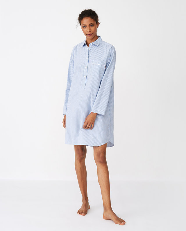 "Nachthemd im Boyfriend-Look ""Lexington American Authentic Nightshirt Blue"""