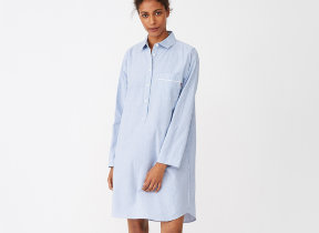 "Nachthemd im Boyfriend-​Look ""Lexington American Authentic Nightshirt Blue"""