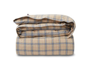 "Flanell Bettwäsche ""Lexington Checked Cotton"" Beige / Steel Blue - © Copyright: Gina Mannberg"