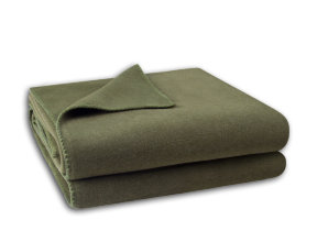 "Kuscheldecke ""Zoeppritz Soft Fleece Olive Branch"""